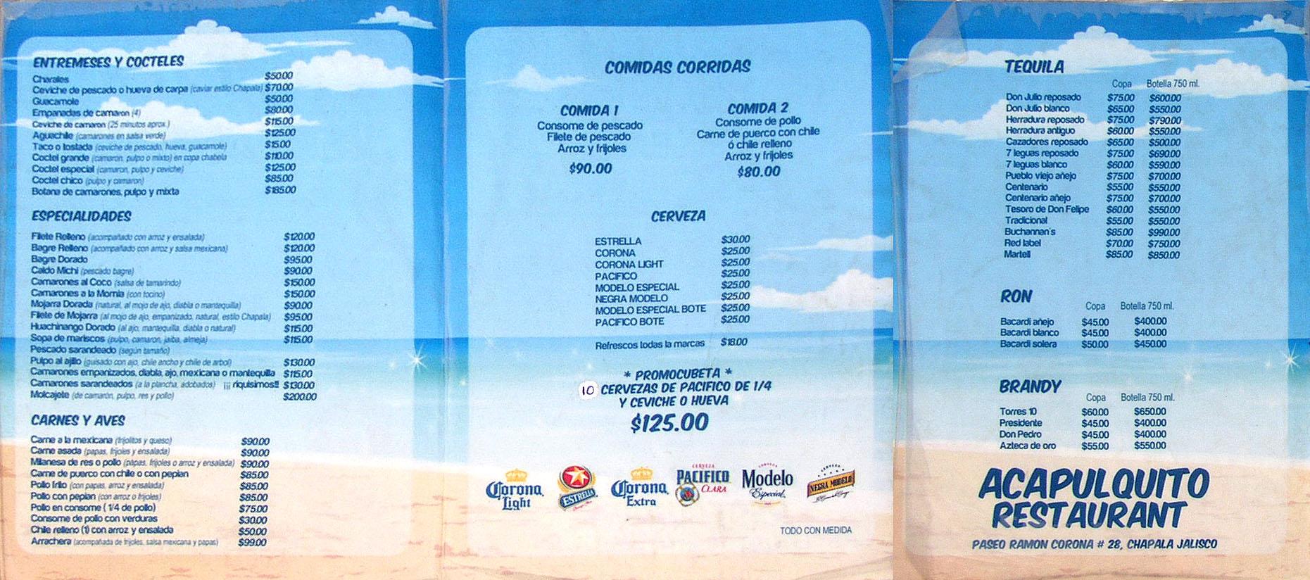 Lake Chapala Mexico Restaurant Menus